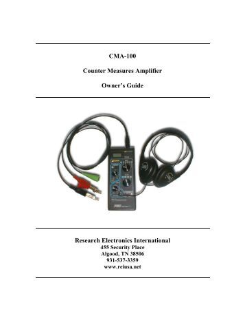 CMA-100 Counter Measures Amplifier Owner's Guide Research ...