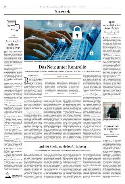 Berliner Zeitung 03.12.2019