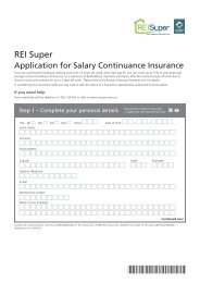 Application for Salary Continuance Insurance Cover - REI Super