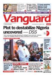 04122019 - Plot to destabilize Nigeria uncovered — DSS