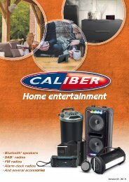 Caliber Home Audio Katalog
