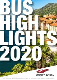Komet Reisen Bushighlights 2020