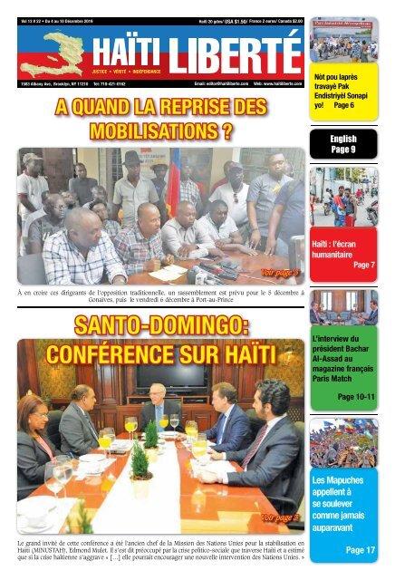 Haiti Liberte 4 Decembre 2019