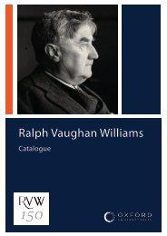 Ralph Vaughan Williams Catalogue
