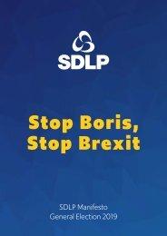 SDLP Manifesto 2019