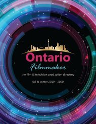 Ontario Filmmaker Fall & Winter 2019-20