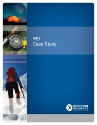 REI Case Study - Outdoor Industry Association