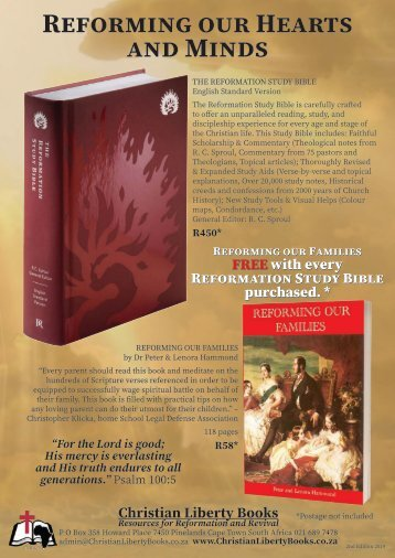 Christian Liberty Books December 2019 Promotions