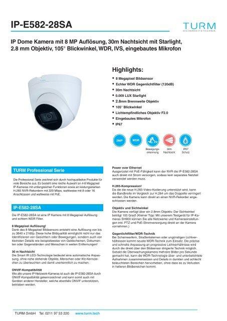 IP-E582-28SA Datenblatt
