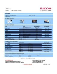 140LES DIRECT THERMAL FILM - Ricoh Electronics, Inc