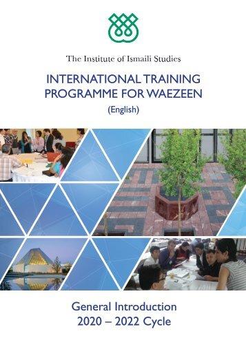 International Training Programme for Waezeen 2020