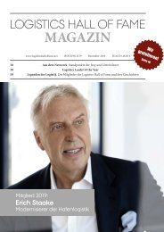 Logistics Hall of Fame Magazin 2019