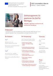 Seminar Zeitmanagement: So gewinnen Sie Zeit für Wichtiges