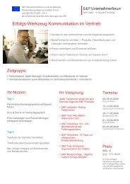 Seminar Erfolgs-Werkzeug Kommunikation im Vertrieb