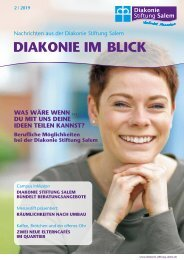 Diakonie im Blick - Winter 2019