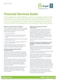 Financial Services Guide - REI Super