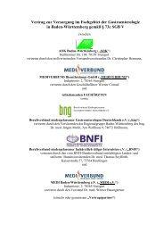 Vertrag zur Versorgung im Fachgebiet der Gastroenterologie in ...