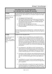 Anhang C: Kontrollkonzept für die Auftragskontrolle nach § 80