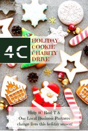 4C Real-T Marketing Holiday Cookie Charity Drive