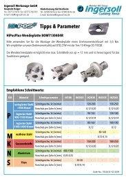 Tipps & Parameter - Ingersoll IMC