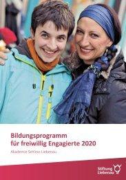 Bildungsprogramm für freiwillig Engagierte 2020