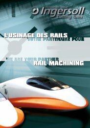 Brochure l'usinage des rails - Ingersoll IMC