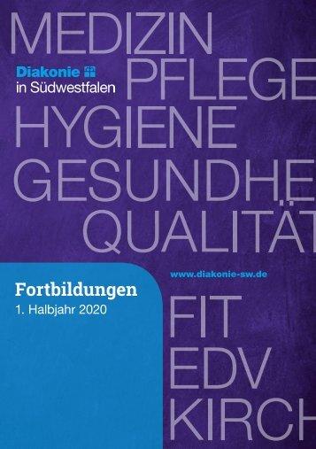 Fortbildungsbroschüre 1. Halbjahr 2020 Diakonie in Südwestfalen