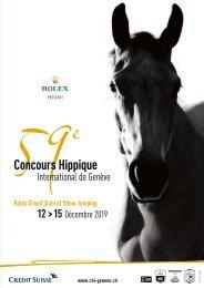 59e Concours Hippique International de Genève - 2019