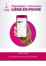 Lancement de nouveautés numériques dont l'application Liège en Poche