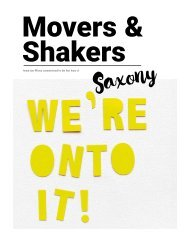 Saxony Movers and Shakers
