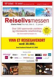 VIP billett Reiselivsmessen Oslo2020