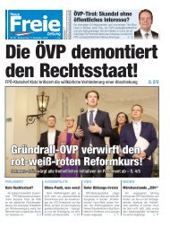 Die ÖVP demontiert den Rechtsstaat!