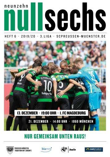 nullsechs Stadionmagazin - Heft 6 2019/20