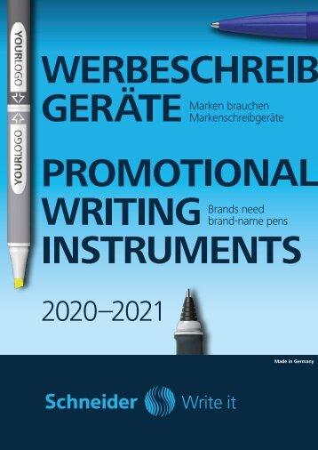 Schneider Werbekatalog Schreibgeräte 2020