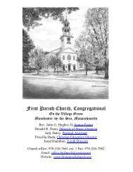 June 17 2012 Bulletin - First Parish Church