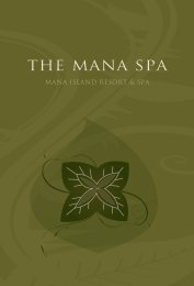 The Mana Spa - Mana Island Resort