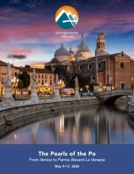 The Pearls of the Po: From Venice to Parma Aboard La Venezia (May 9–17, 2020)