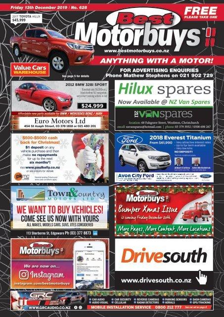 Best Motorbuys: December 13, 2019