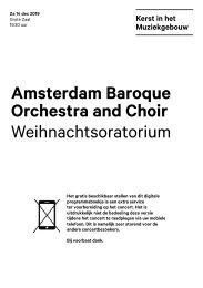 2019 12 14 Amsterdam Baroque Ochestra an Choir