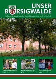 Unser Borsigwalde 31 (Herbst 2019)