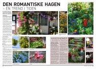 Den romantiske hagen - en trend i tiden