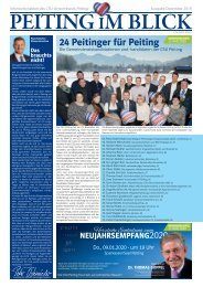 Peiting im Blick Dezember 2019 - Das Informationsblatt der CSU Peiting