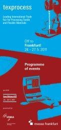 Rahmenprogramm_GB (PDF) - Texprocess - Messe Frankfurt