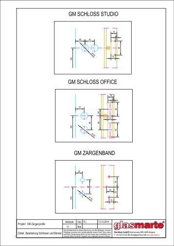 GM ZARGENPROFILE – Bearbeitung Schlösser + Bänder