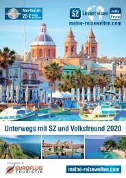 Unterwegs mit SZ und Volksfreund 2020 - Euroflug Touristik