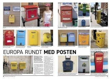 Europa rundt med posten