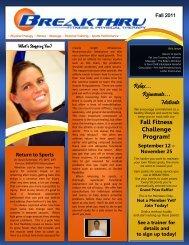 Relax… Rejuvenate… Motivate Fall Fitness Challenge Program!