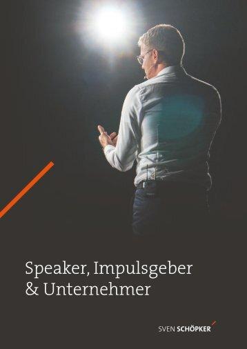 Sven Schöpker - Speaker und Impulsgeber