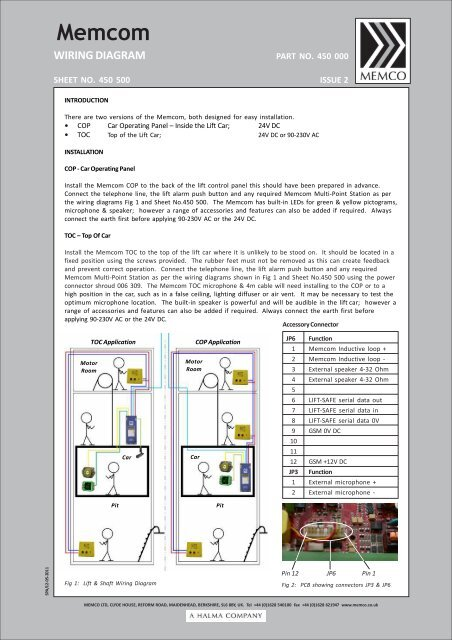 wiring diagram memco