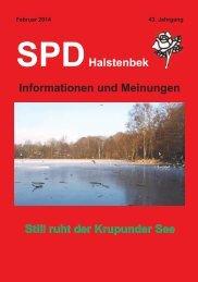 SPD Halstenbek – Informationen und Meinungen (Februar 2014)